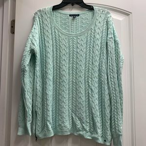 American Eagle women's Mint Crew neck sweater XL